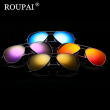ROUPAI Brand 2017 Luxury Sunglasses Women Brand Designer Fashion Vintage Female Polarized Sunglasses Men Shadow Glasses Oculos