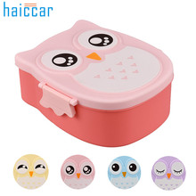 food container Lunch Box Owl Portable Bento Plastic Cute Cartoon Food Fruit Storage Container Oct17