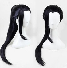 chinese ancient dynasty wig hair for men swordsman wig chinese warrior cosplay hair han dynasty cosplay long black wig