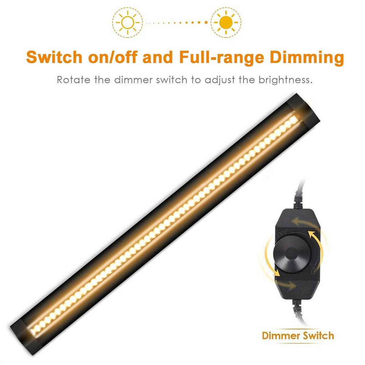 30CM LED Under Cabinet Strip Light Bar Lamp CRI90 Warm Dimmable Waterproof Table Lamp desk light For Reading Study Office Light 8