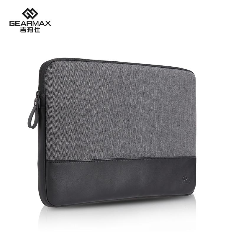 Gearmax Woolen Herringbone Leather Laptop Bag for Notebook / iPad Tablet / Surface / Macbook Air 13 inch Laptop Sleeve Case<br><br>Aliexpress