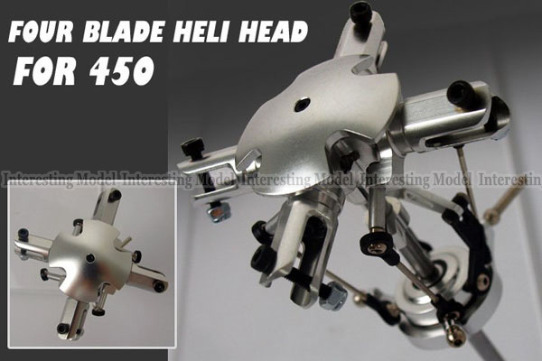 4 Blades Flybarless Conversion main Rotor Head for Trex 450 V2 V3 PRO RC helicopter<br>