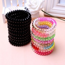 10 Pcs/lot Extendable Women Girls Rubber Telephone Wire Hair Accessories Elastic Hair Bands