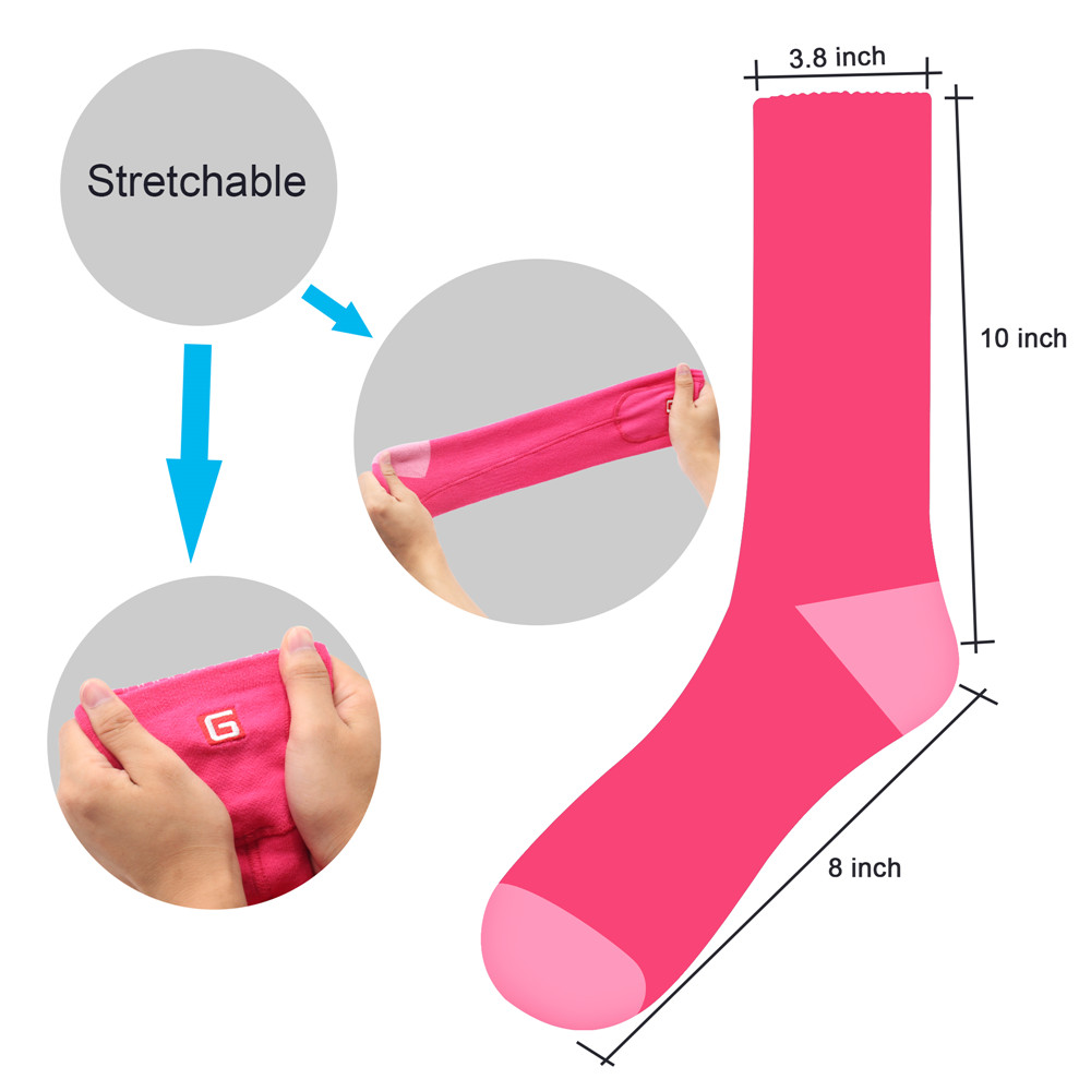 2 heated socks