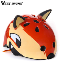 WEST BIKING Children Helmet Bike BMX Cycle Cartoon Animal Safety Helmet Bicycle Scooter Bike Ultralight Sport Kids Helmets