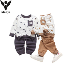Buy Suit Boy Clothes Sets Autumn Winter New Fashion Sports Suits Kids Clothing Costume Child School Uniform Children Outfit for $14.62 in AliExpress store