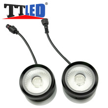 10set/lot Ultra Bright BLUE RED Strobe Flash 20W Eagle Eyes Cow Eyes Warning Light with Lens for Universal Car SUV Screw #TM24-2
