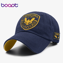 [boapt] animal design embroidery women hats summer sun hats cotton hip hop baseball caps visor unisex snapback men brand cap