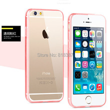 "High Quality Soft Transparent TPU Full Clear Acrylic Case Cover Skin Shell for iPhone 6 6S Plus 5.5"" With Dust Plug 10pcs/lot"