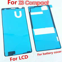 TMIOLOC waterproof battery Cover Adhesive front sticker for LCD Screen glue For Sony Xperia Z3 compact z3 mini z3c D5803 D5833