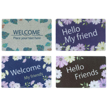 PVC Silk Ring Doormat Bathroom Waterproof Flower Greetings Print Carpet Dust Removal Non-Slip Mats Can Be Tailored Entrance Mats