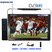 Breezelife TV Portable TV DVBT2 Portable TV 9 inch 10 inch DC12 Digital Portable HD DVBT HDMI Input for Car Portable TV(China)