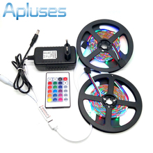 10M SMD 3528 RGB LED Strip Set + 24Key IR Controller + 12V 3A Power Supply Adapter