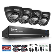 SANNCE 4CH HD 1080N DVR 720P Security camera CCTV system 4pcs 720P CCTV Cameras P2P Outdoor Waterproof Video Surveillance kit(China)