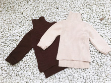 1-7 years Autumn kids childrens Girls Turtleneck Knit sweater (pick size color)(China)