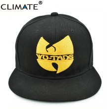 CLIMATE Wu-Tang Wutang Wu Tang Clan Cool Snapback Caps Men Women RAP Wutang Band Cool Cap HARDCORE Black Adjustable HIPHOP Hat