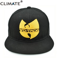 CLIMATE Wu-Tang Wutang Wu Tang Clan Cool Snapback Caps Men Women RAP Wutang Band Cool Cap HARDCORE Black Adjustable HIPHOP Hat(China)