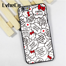 LvheCn phone case cover fit for iPhone 4 4s 5 5s 5c SE 6 6s 7 8 plus X ipod touch 4 5 6 Hello Kitty Cute Quotes(China)
