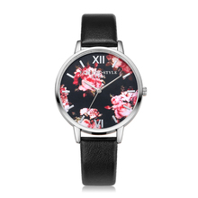 Top selling LVPAI Watches Women Casual Faux Leather Quartz Wristwatch Clock Ladies Dress Gift Watches P086 Sliver dial Relogio