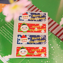 10page/lot (60pcs) Christmas tree stickers Santa Claus adhesive sticker Candy box gift card decoration New Year party supplies