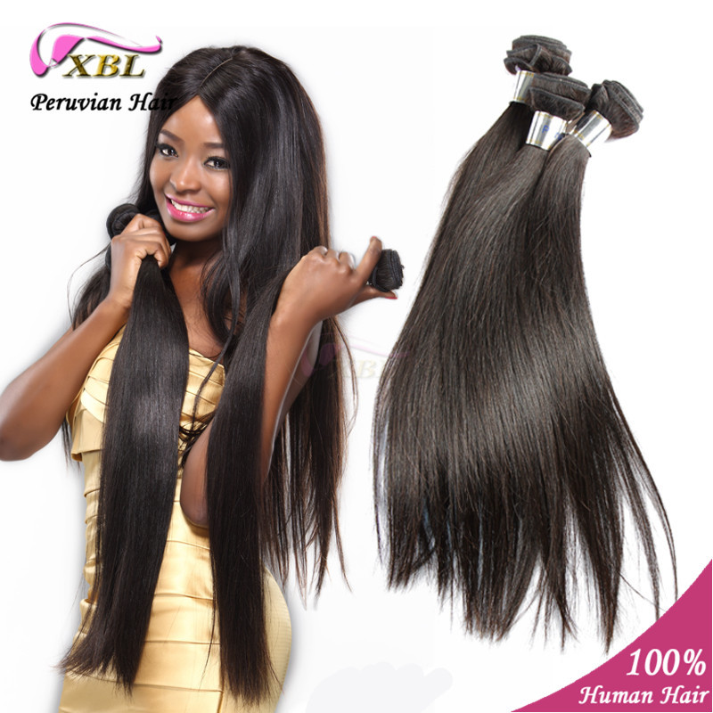 Unprocessed Peruvian Virgin Hair straight XBL hair product remy human hair straight<br><br>Aliexpress