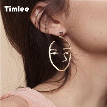 E 121 Exaggerated Personality Metal Earrings Fashion Earrings Wholesale(China)