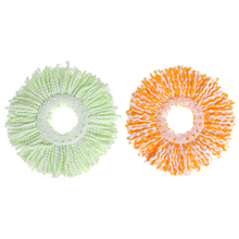 1PC Green Orange Mops Head Replacement 360 Rotating Head Easy Magic Microfiber Spinning Floor house cleaning(China)