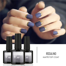 ROSALIND 10ml 1pcs Matt Top Coat Nail Art UV Gel Polish  Matte Top Coat  Soak Off Gel Nail Polish