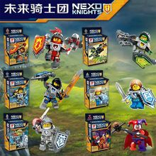 6pcs/lot 877A-F Nexo Knights Future Knight Castle Warrior New Building Block figures Bricks Kid Toy Compatible construction