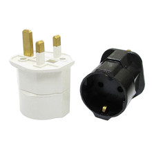 Multifunctional EU to UK Plugs Adapter EU to UK Plugs Power Converter Plugs 2 Pin Socket EU to UK Travel Adapter(China)