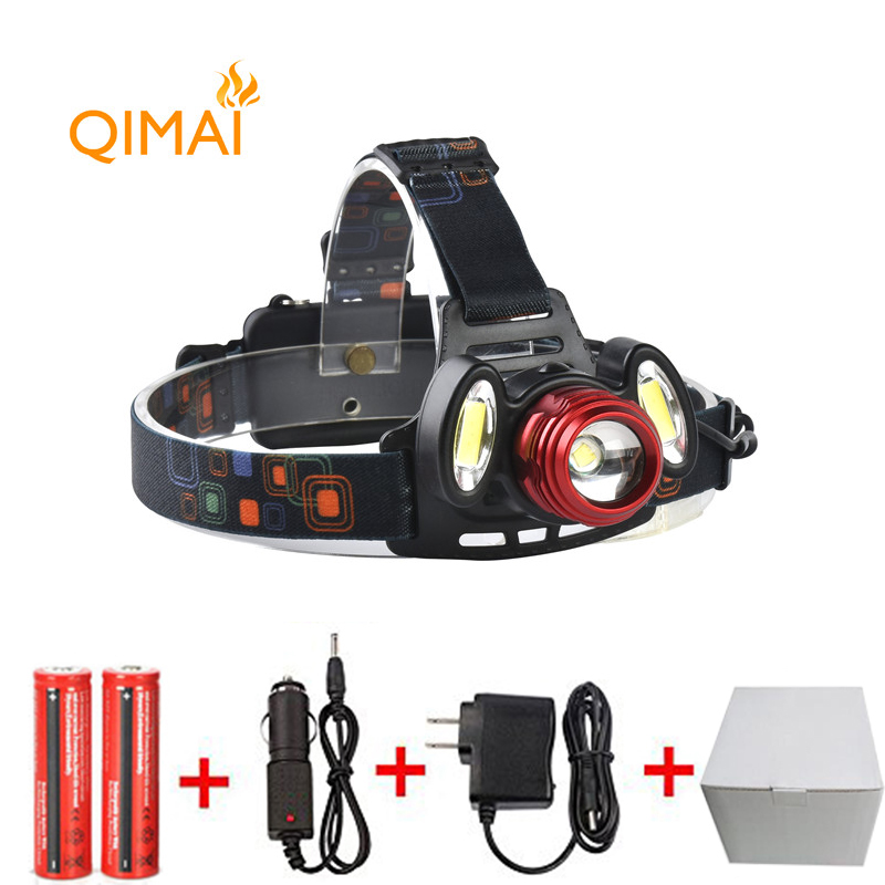 7000Lm Led lighting Head Lamp T6+2COB LED Headlamp Headlight Camping Hunting Light +2*18650 battery+Car EU/US/AU/UK charger<br><br>Aliexpress