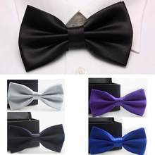 Tuxedo Ties Wedding Bow Tie Men Women Butterfly Knot Cravat Black Blue Silver Purple Groom Party Banquet Meet Club(China)