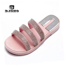 Buy CBJSHO Crystal Slippers Fashion Summer Women Slippers Bling Beach Slides Flip Flops Ladies Sandals Comfortable Slipper Shoes for $13.40 in AliExpress store