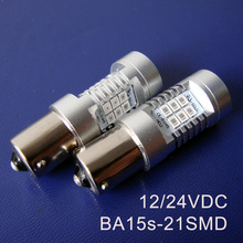 High quality 12/24VAC/DC 10W BA15s Led Light Bulb Lamp 1156,BAU15s,P21W,PY21W,1141 Freight Car Rear light free shipping 4pcs/lot(China)