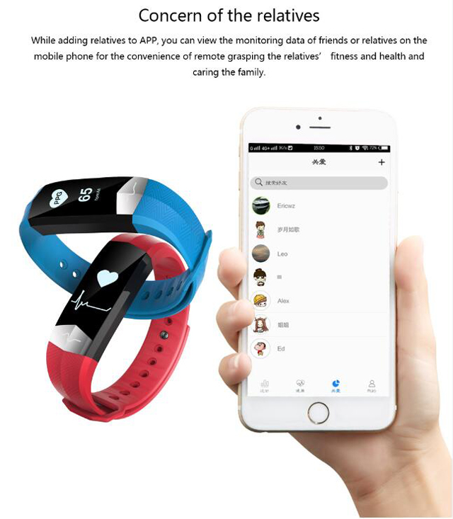 CD01 Graphene ECG HeartRate Blood Pressure Smart Bracelet for iphone Android Sleep Pedometer Activity Tracker Call SMS Reminder 9