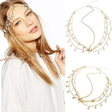 Fashion Rhinestone Metal Head Chain Headband Headpiece Hair Band Jewelry