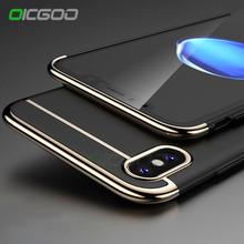 OICGOO Luxury 360 Degree Ultra Thin Cases For Apple iphone X Full Cover Case For iPhone X Case Shockproof Protective Shell Cape(China)