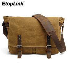 E6928 Canvas Vintage DSLR SLR Camera Bag Shoulder Strap Case Casual Shoulder Messenger Pack for Canon for Sony Waterproof Bag