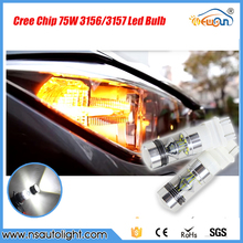 2X T25 75W LED Reverse Lights P27W P27/7W 3156 3157 Canbus Lamps Parking bulbs Lampochka Bombillas Para Coche
