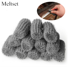 12pcs/pack Kitchen Melamine Sponge Metal Mesh Super Detergent Tools Steel Wool Degreasing Pot Brush Magic Cleaner(China)