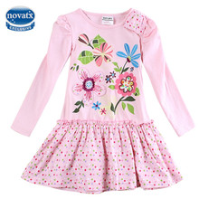 girls dress nova kids clothing children clothing casual princess dresses for girls embroidery cartoon pig girls clothes H5460