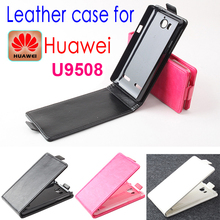 Luxury Original Huawei U9508 Leather Case Flip Cover Cell Phone Accessories Holster Case for Huawei U 9508 Free Shipping