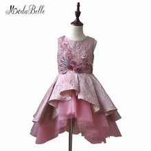 modabelle Puffy Flower Girl Dresses For First Communion Short Princess Kids Birthday Prom Dress For Girls Pageant Gown 2018(China)