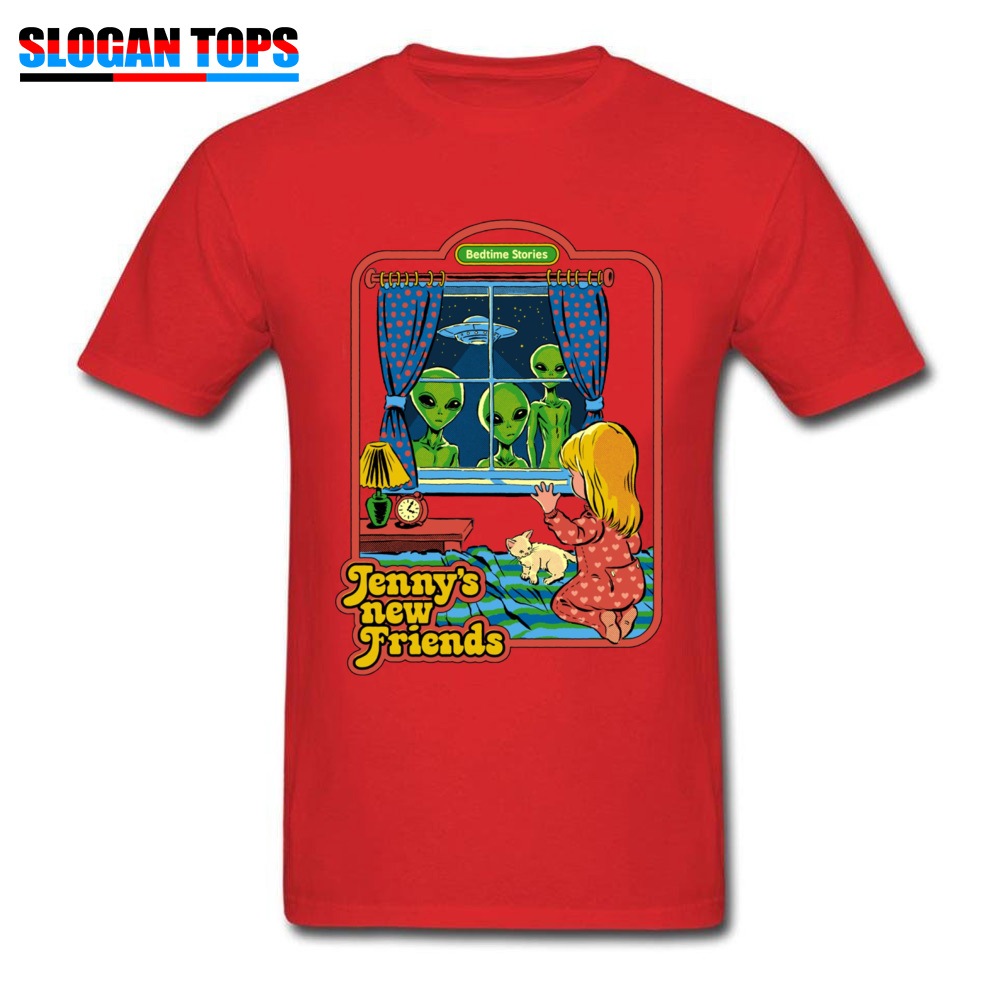 Jennys-New-Friends 100% Cotton Funny T Shirt Rife Short Sleeve Mens Tshirts Casual NEW YEAR DAY T-shirts Crew Neck Jennys-New-Friends red