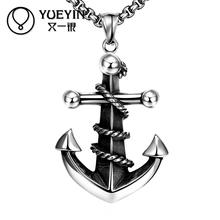 Anchors styles cool jewelry N052 hot China supplier latest design 316L stainless steel fashion Necklace