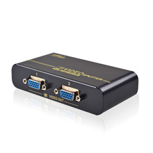 EKL VGA Splitter 2 ports VGA video splitter duplicator 350MHz High quality with USB Power cable