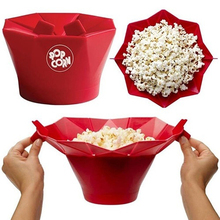 2016 New DIY popcorn Bucket Microwaveable Popcorn Maker Foldable Pop Corn Bowl Microwave Safe popcorn maker kitchen bakingwares
