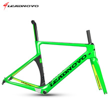 Buy LEADNOVO newest design carbon road bike frame carbon fibre road cycling race bicycle aero road frameset bike parts for $480.00 in AliExpress store