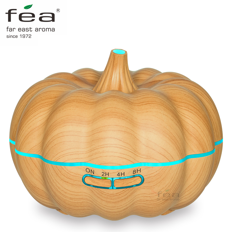 FEA Essential Oil Diffuser 600ml Ultrasonic Humidifier Aromatherapy Diffuser with Cool Mist &amp; Color Change LED light, Wood Grain<br>