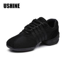 Free Shipping Good Quality Hot Sale Breathable Black Mesh Dance Sneakers Woman Jazz  Ballroom shoes Zapatilla De Deporte